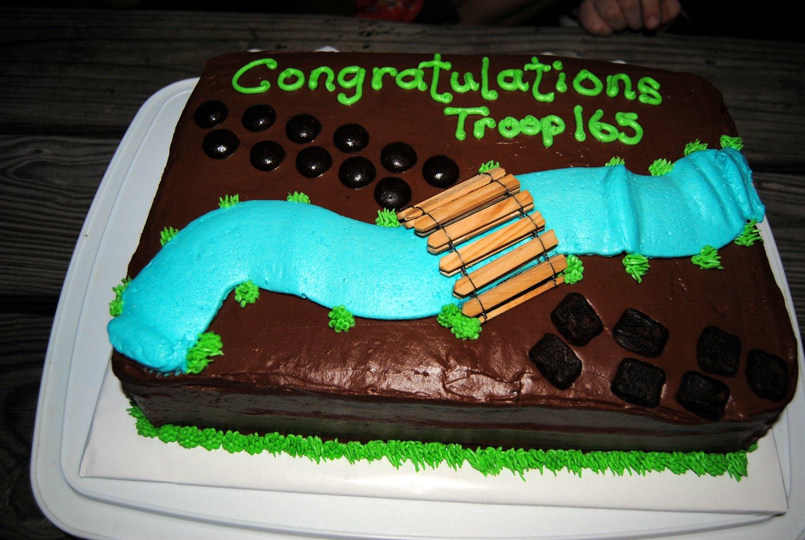 Late Night Cakes: Girl Scout Bridge Ceremony Cake