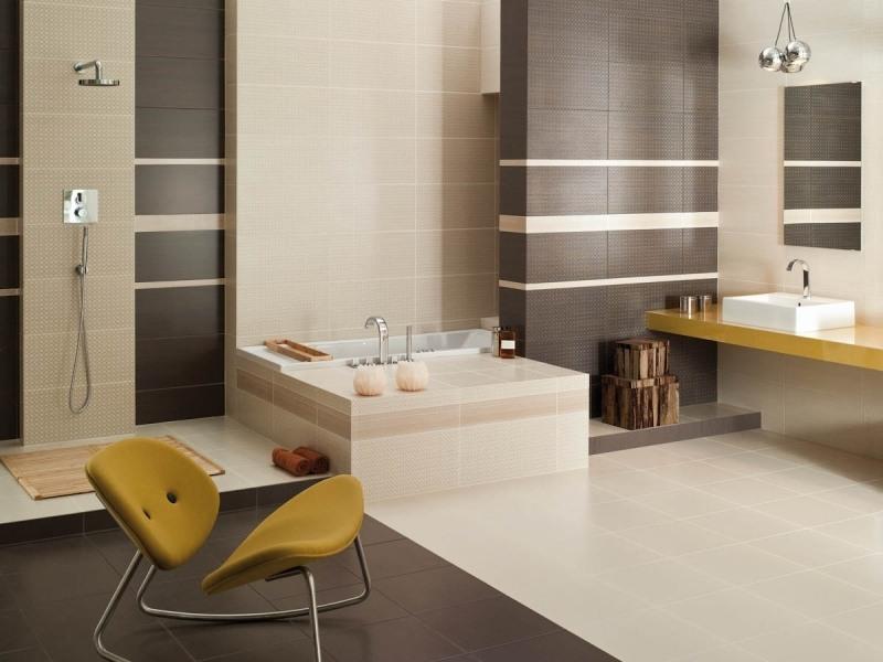 Diseno De Baños Color Beige:Baño decorado con paredes color beige donde vemos algunos acentos