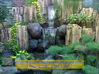 Tukang Taman Surabaya Air terjun 3D