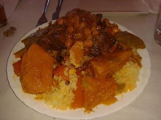 Cuscus. Restaurante árabe Salam-La Paz. El Tapeador.