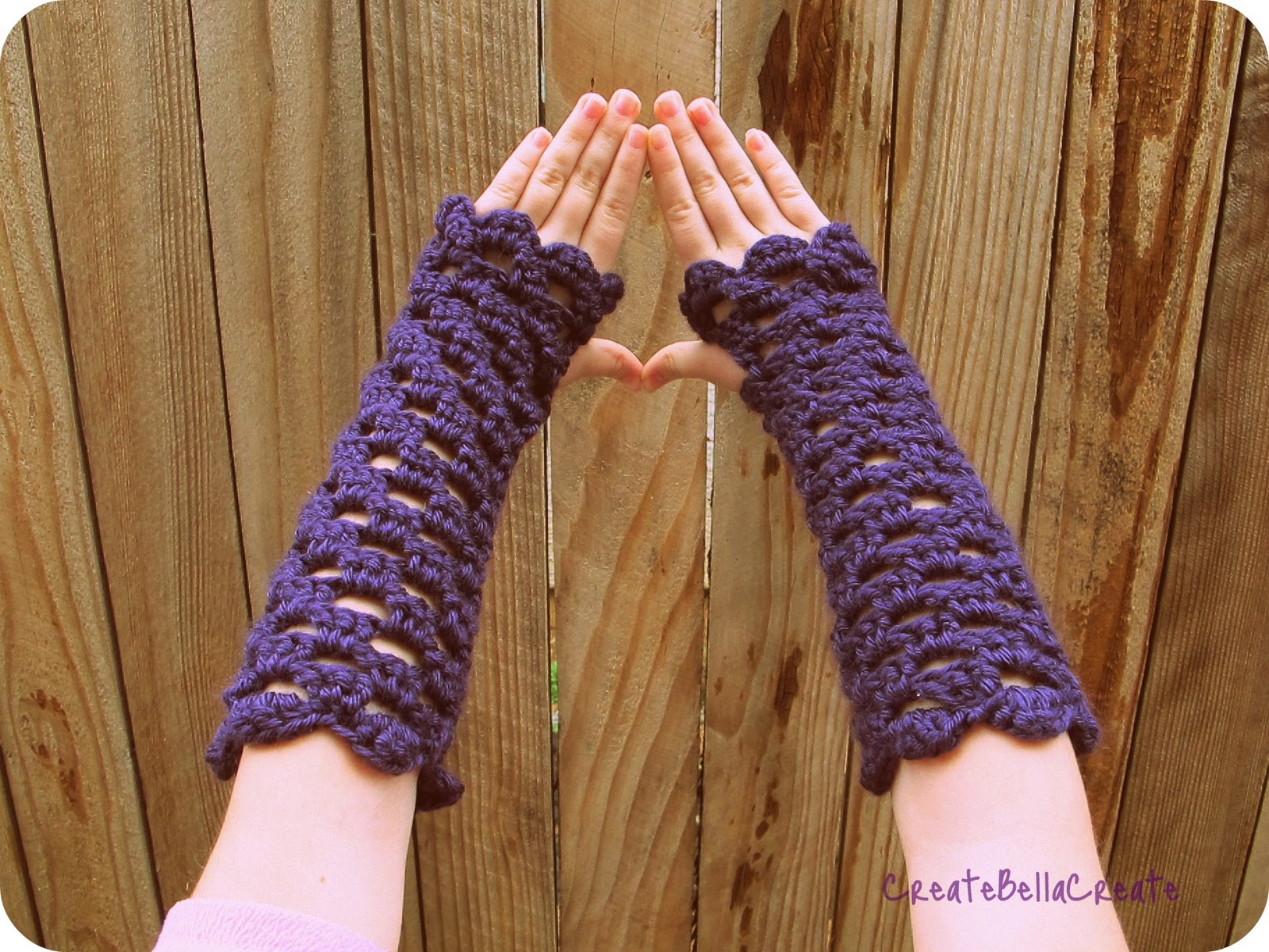 createbellacreate: Kids Version of the Crochet Openwork Fingerless ...