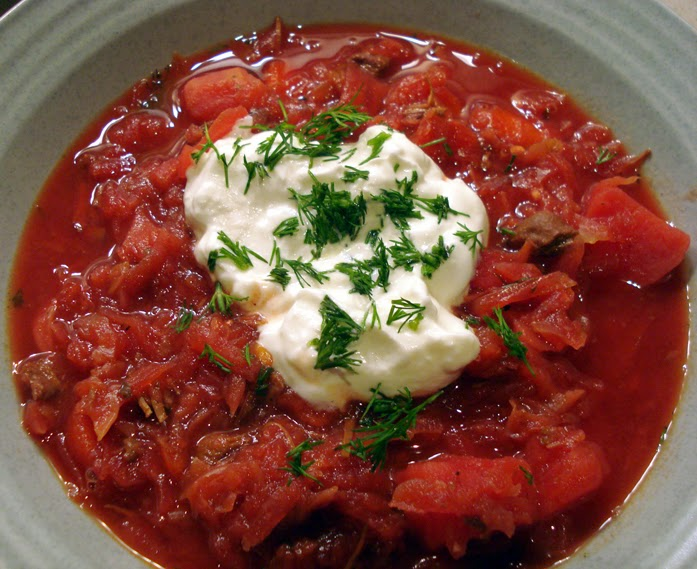 slow cooker russian borscht