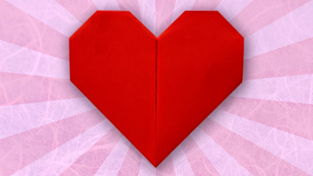 simple origami heart for kids easy origami instructions