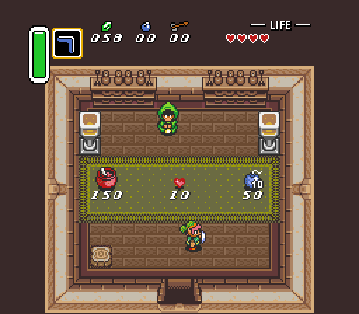 Legend of Zelda Link to the Past shop
