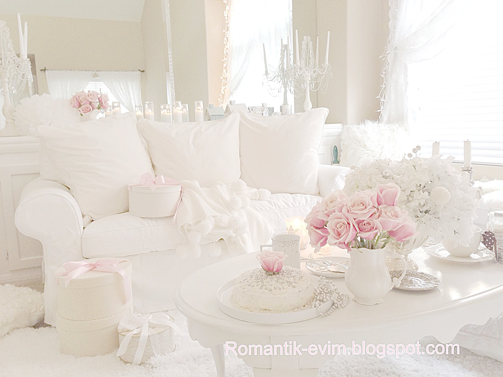 my shabby chic home romantik evim romantik ev romantik. Black Bedroom Furniture Sets. Home Design Ideas