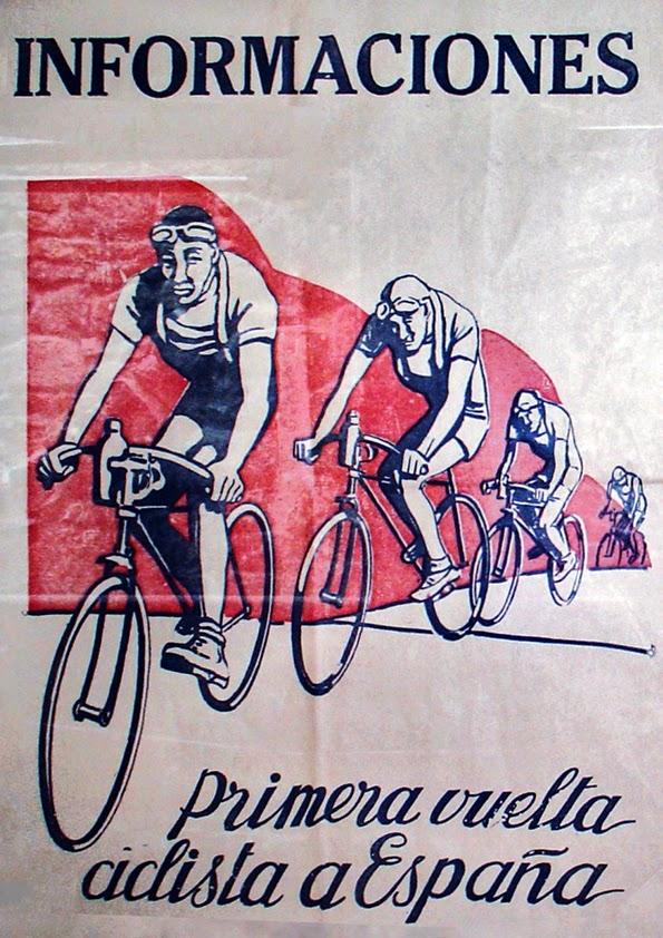 Cartel 1ª Vuelta Ciclista a España