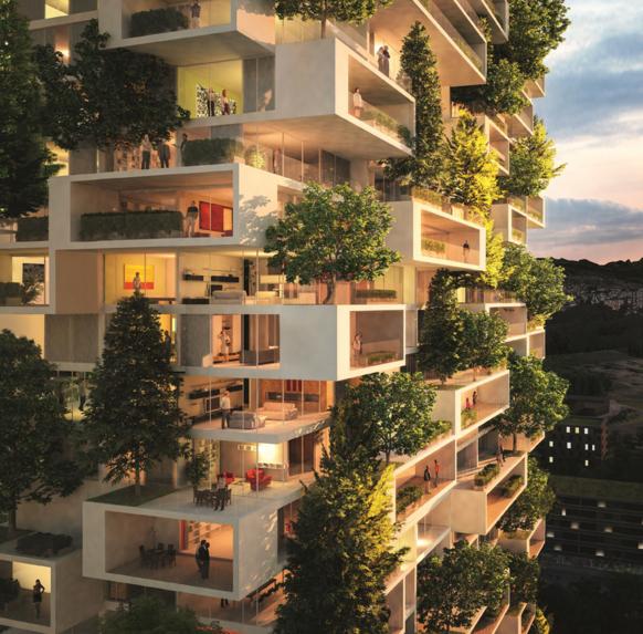 Torre de los cedros de lausana suiza jardines for Edificios con jardines verticales