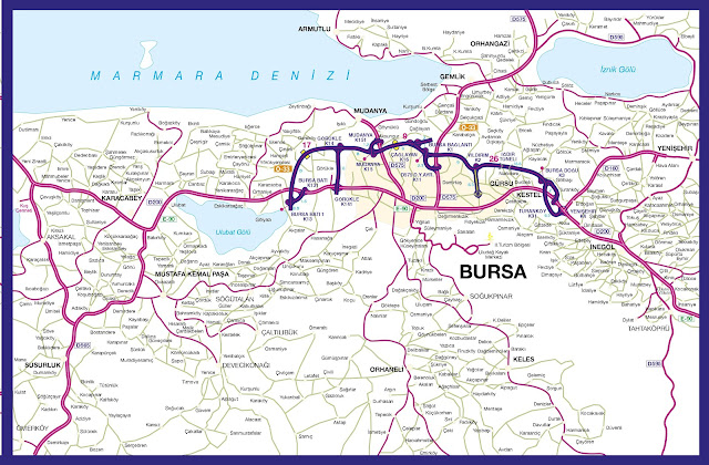 Bursa maps