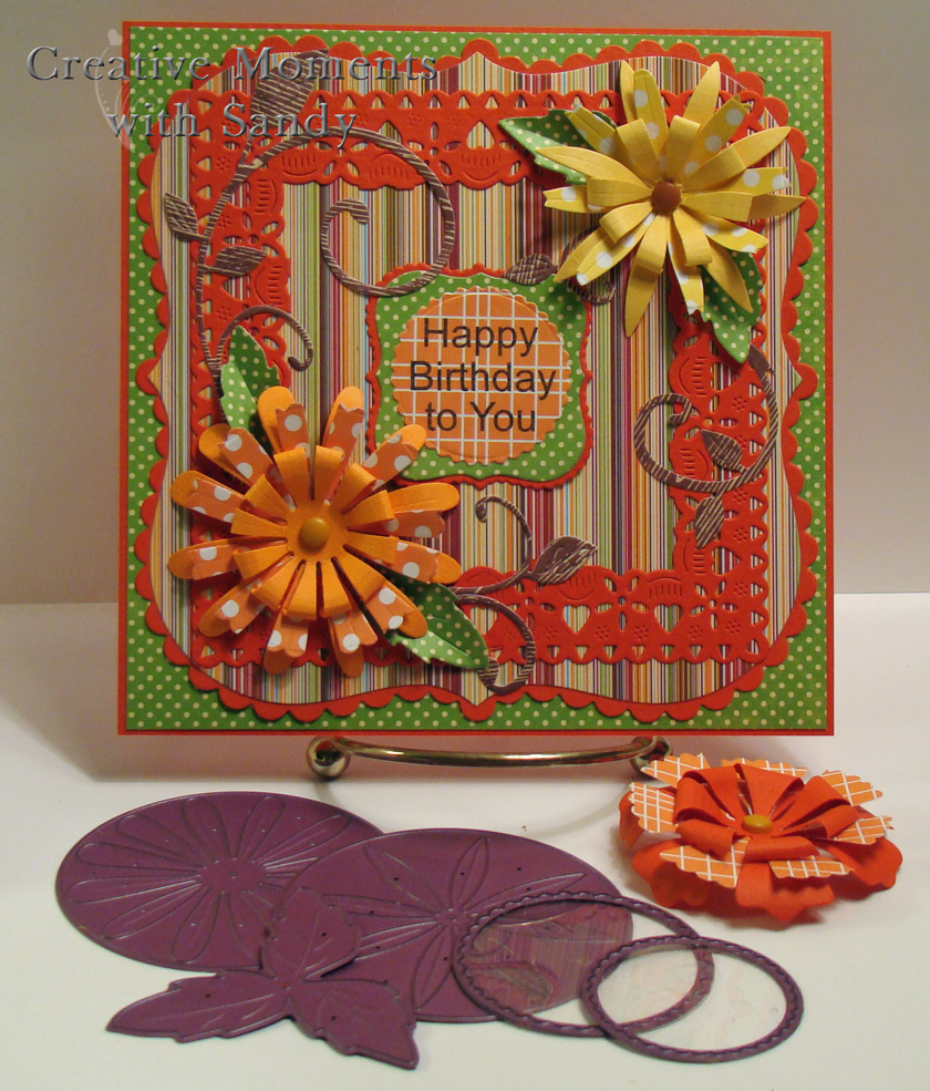 Creative Moments With Sandy Cheery Lynn Stacker Flowers