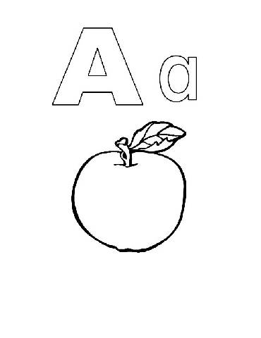 Coloring Pages on Preschool Coloring Pages Alphabet Alphabook A