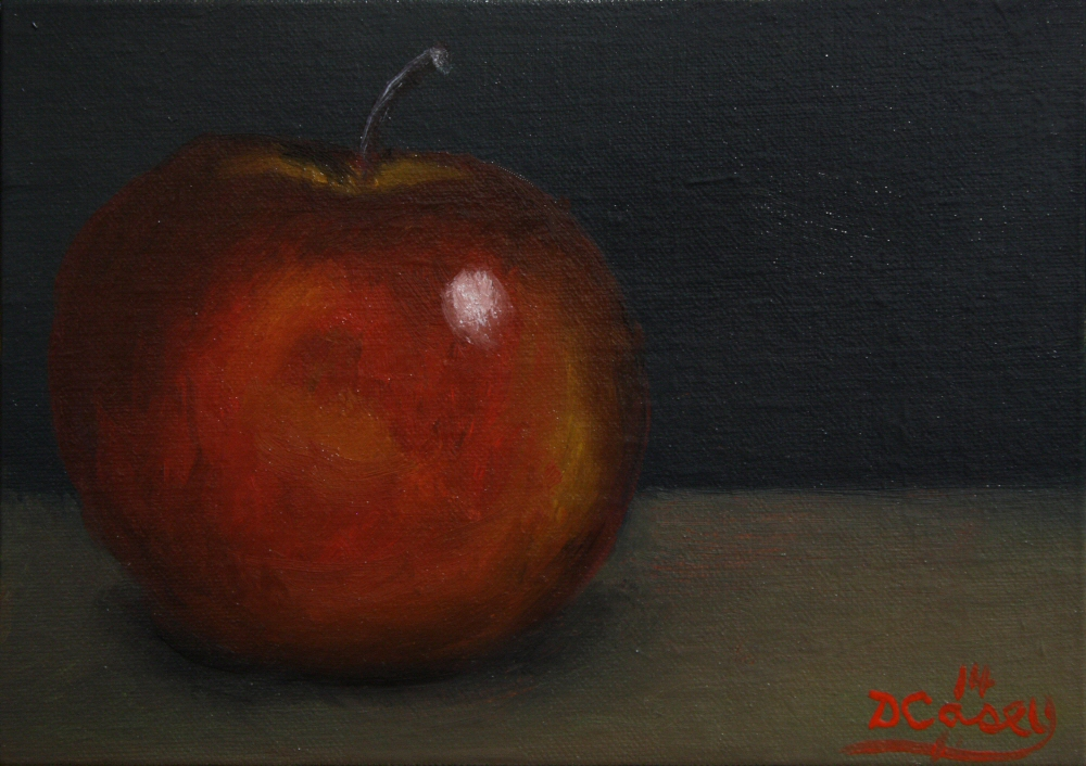 140911 - Kitchen Painting - Apple 008a 5x7 oil on linen panel - Dave Casey - TheDailyPainter.jpg