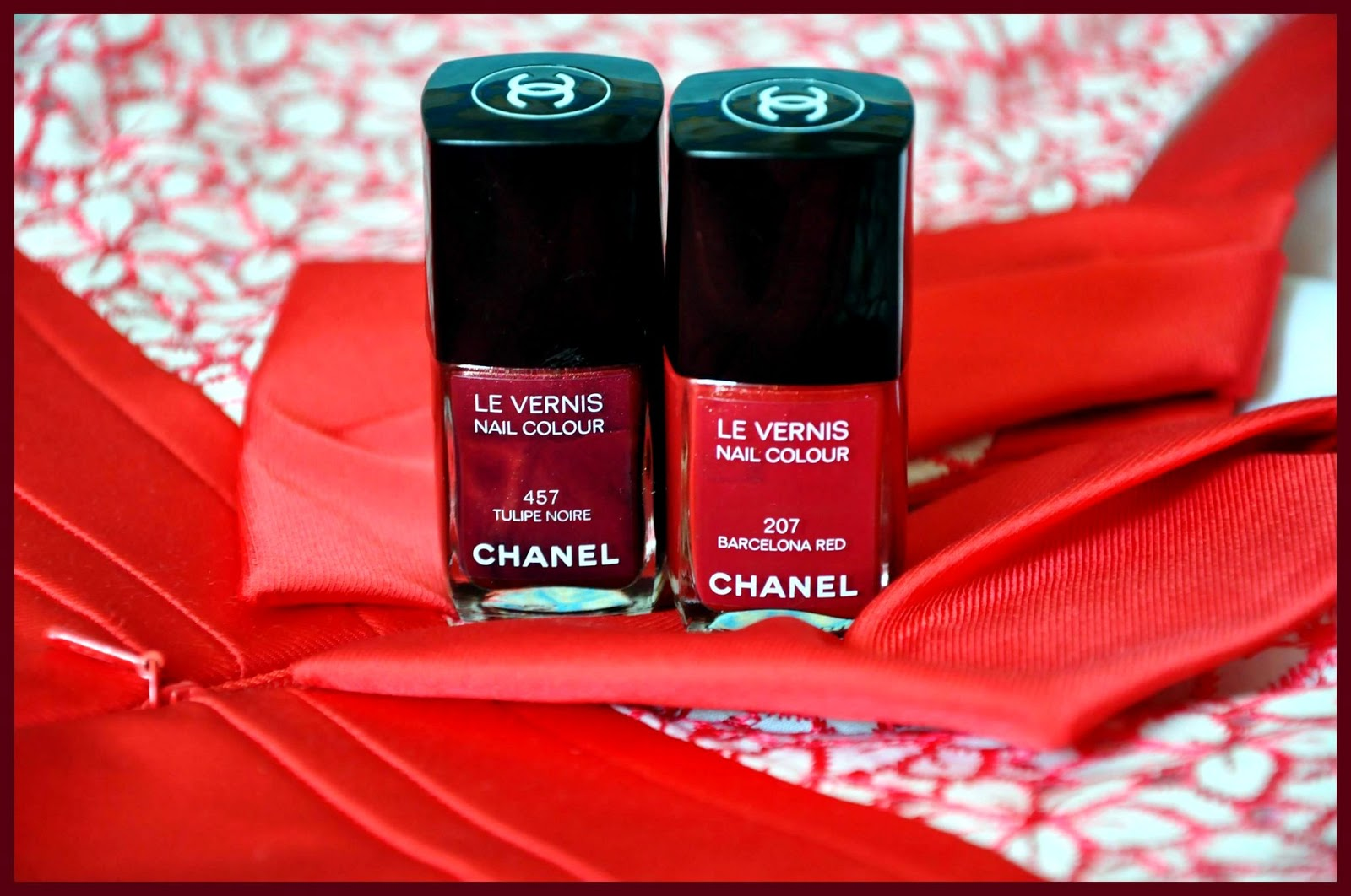 Chanel Le Vernis Barcelona red night tulip