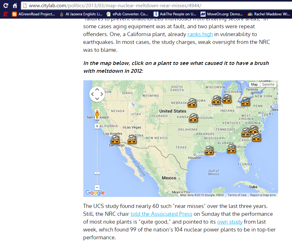 Nuclear Reactors Bombed Just One Reactor Melting Down And - Us nuclear plant meltdown map