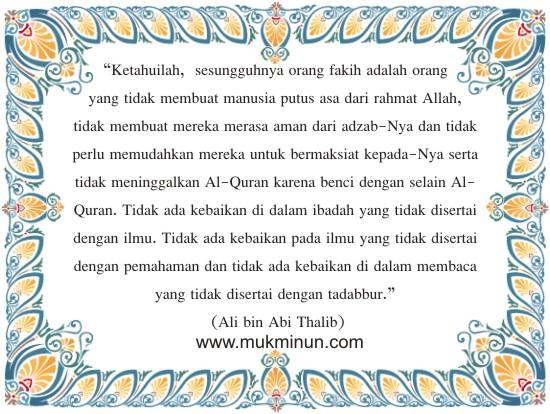 Kata-kata Bijak, Mutiara Hikmah Islam - 07 Maret 2013