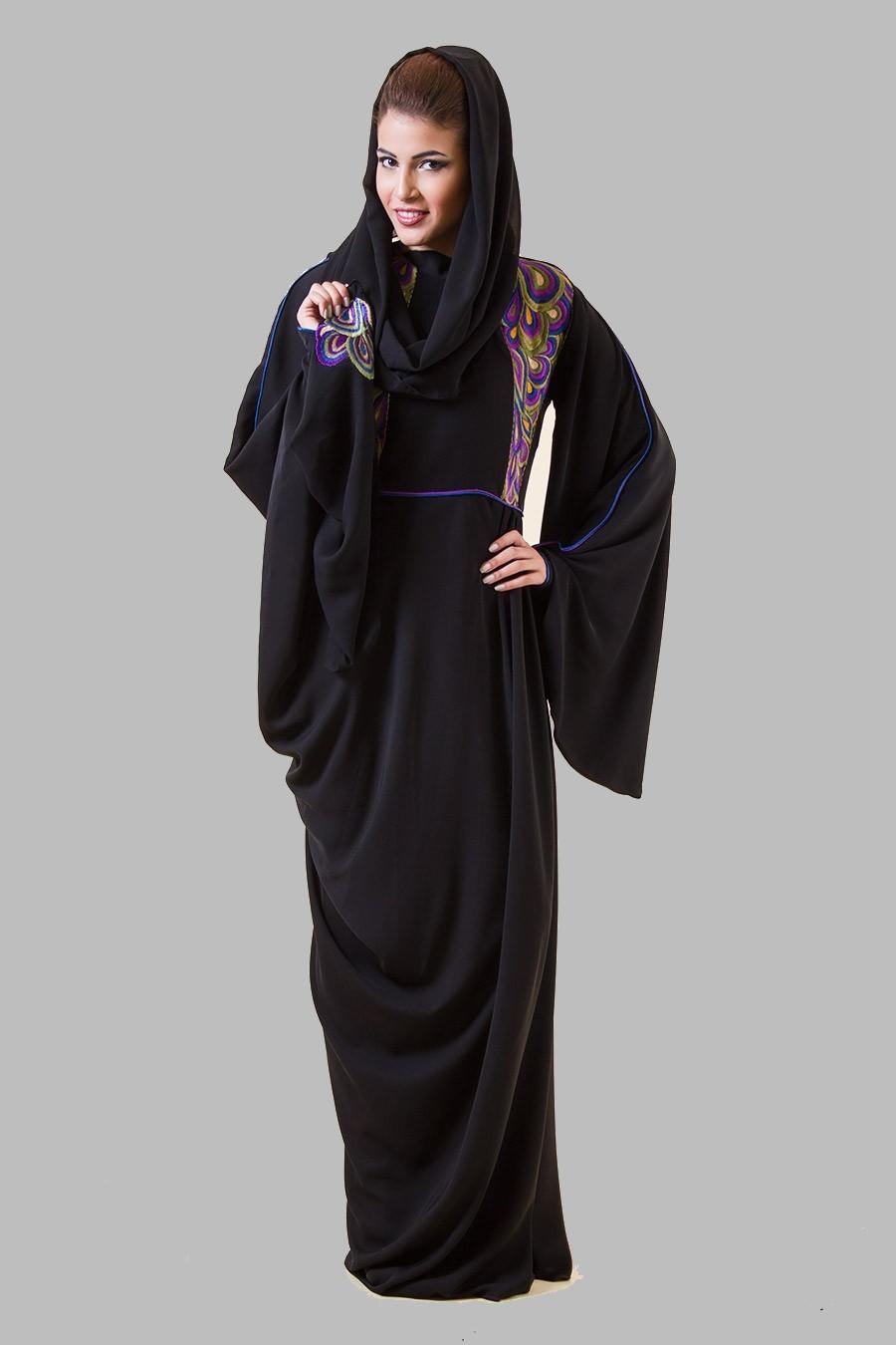 Embroidered Abaya Designs 2013   Islamic Abaya Dress Fashion 2013-14 ...