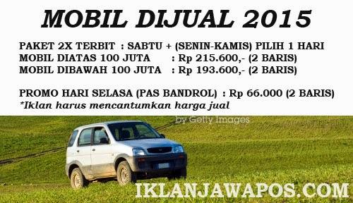Iklan Baris Jawa Pos Murah 2015 Paket Mobil Dijual