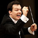 Andris Nelsons, excerpted from a photo by Astrid Ackermann