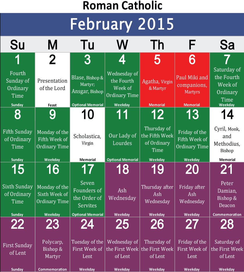 2016 Protestant Liturgical Calendar | Search Results | Calendar 2015