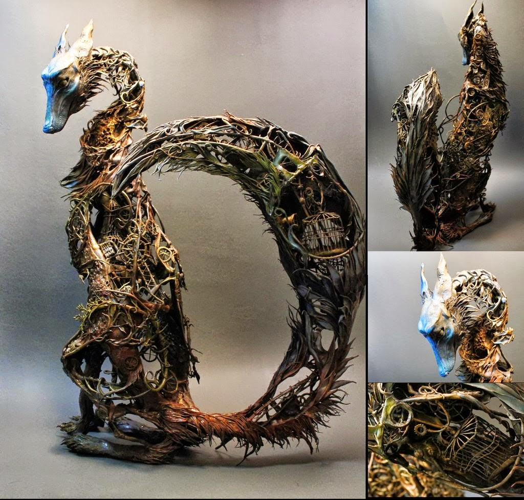 Simply Creative Fantasy Creature Sculptures By Ellen Jewett