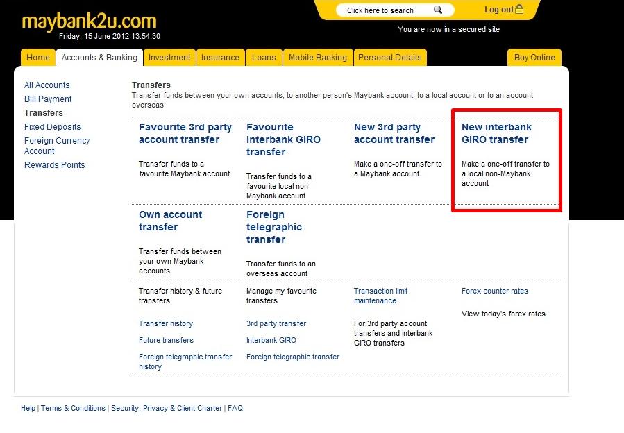 Detik Dunia Blogspot Com Cara Transfer Duit Dari Maybank2u Ke Akaun Lain