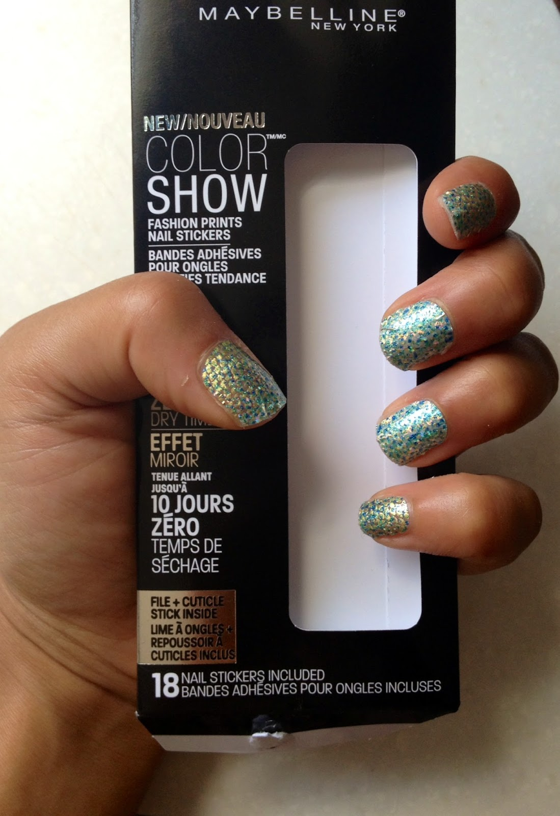 Maybelline Color Show Nail Stickers Fashion Prints Nails Mirror