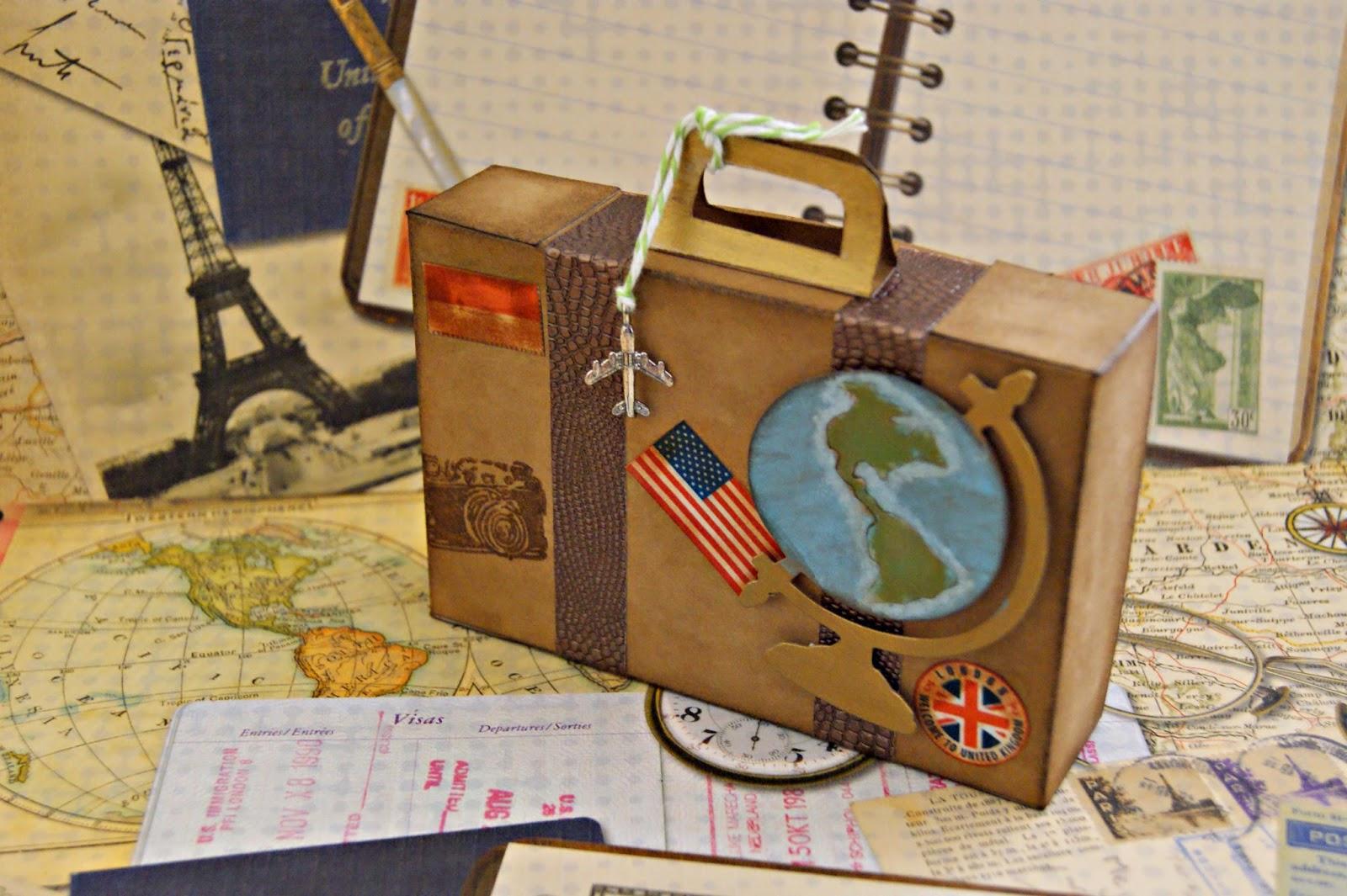 infinity maleta vintage travel theme