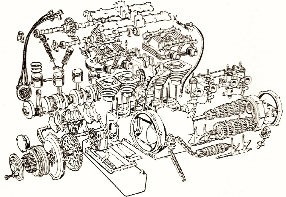 exploded view of a 350 chevy engine autos post