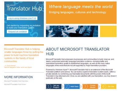 Microsoft Translator Hub