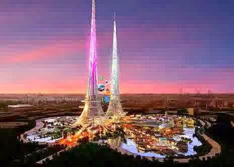 China bakal miliki menara tertinggi berwarna pink