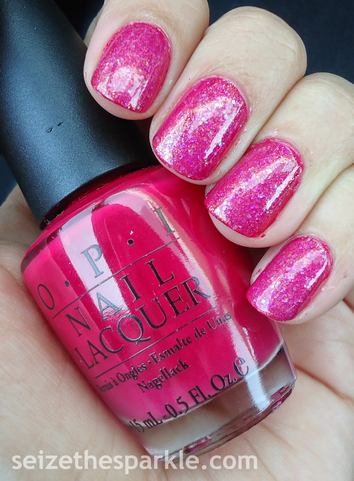 Jelly Glitter Sandwich in Pink