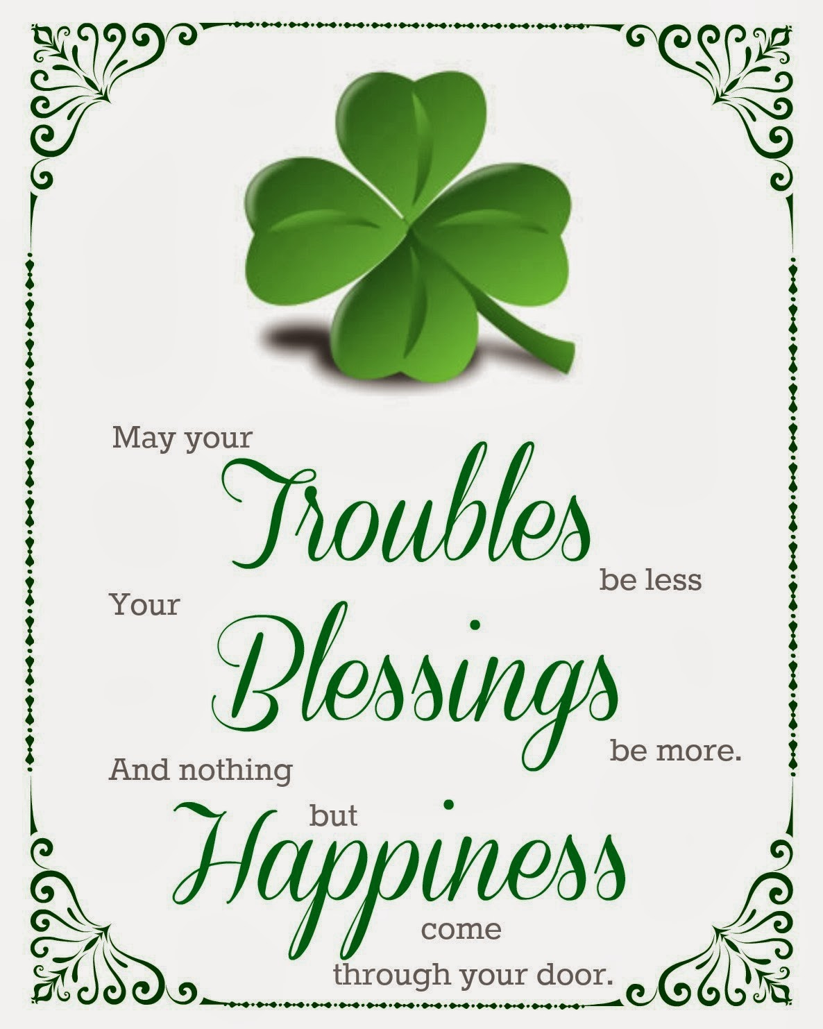 shamrock, St. Patrick's Day, St. Patty's Day, Dollar Tree, Printable
