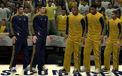 NBA 2K13 Indiana Pacers Warmup Uniforms Patch