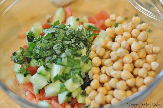 Honey We're Healthy: Mediterranean Chickpea Salad