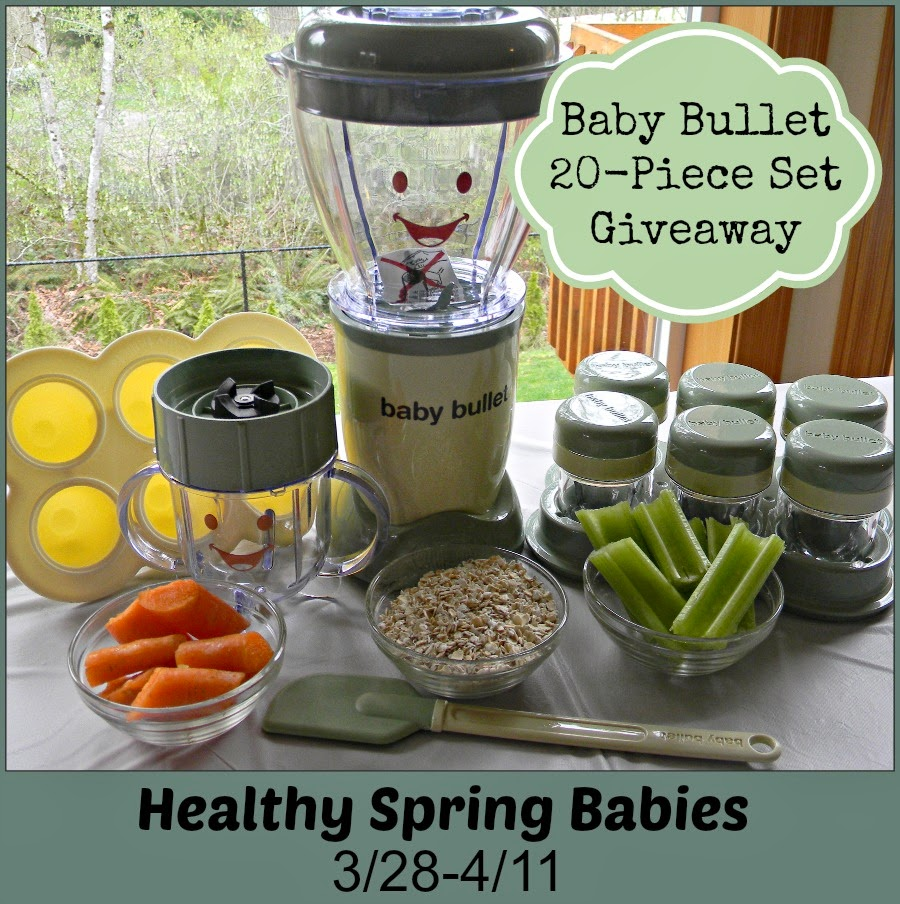 I entered the Healthy Spring Babies Baby Bullet #Giveaway & You should too! - ends 4/11