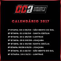 Calendário 2017 - Campeonato Catarinense de Automobilismo