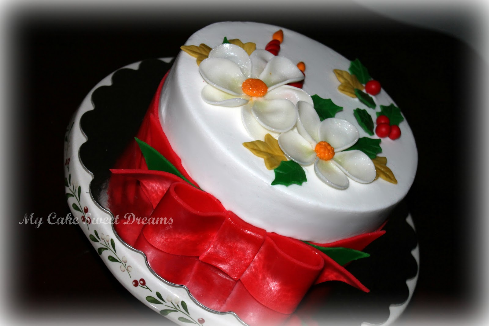 My cake sweet dreams christmas cake for Iced christmas cakes