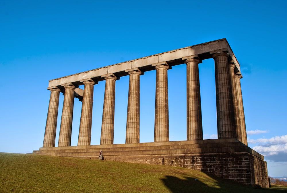 grecian columns calton hill