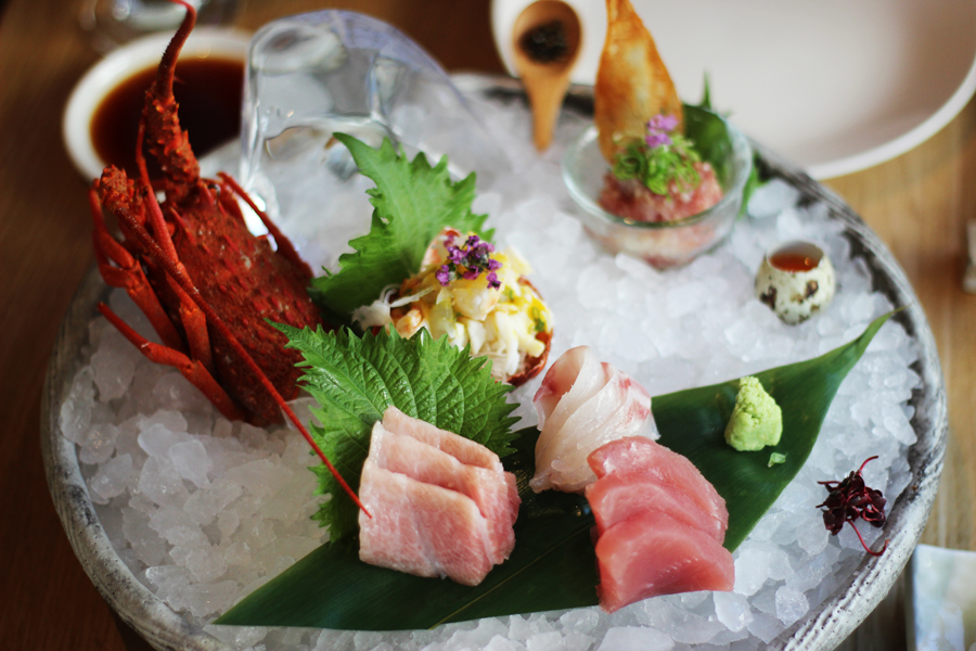 Sashimi and sushi dinenr at Roka, Charlotte Street, London