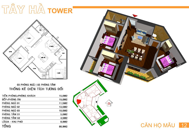 Căn số 12 chung cư Tây Hà Tower