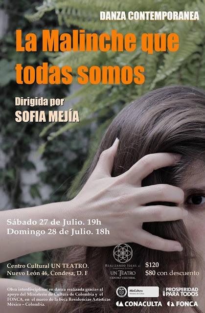 """Danza contemporánea """"La Malinche que todas somos"""" en el Centro Cultural Un Teatro"""