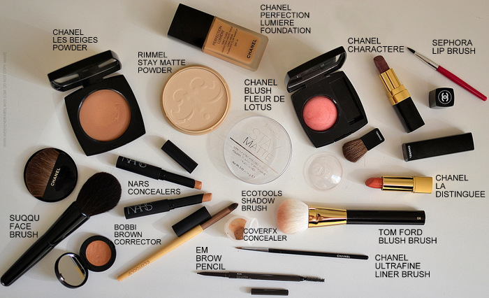 Face Makeup Products - Chanel Les Beiges Perfection Lumiere Rimmel Stay Matte Powder Fleur de Lotus Blush Character La Distinguee Lipstick - Suqqu Face  - Tom Ford Blush Brush