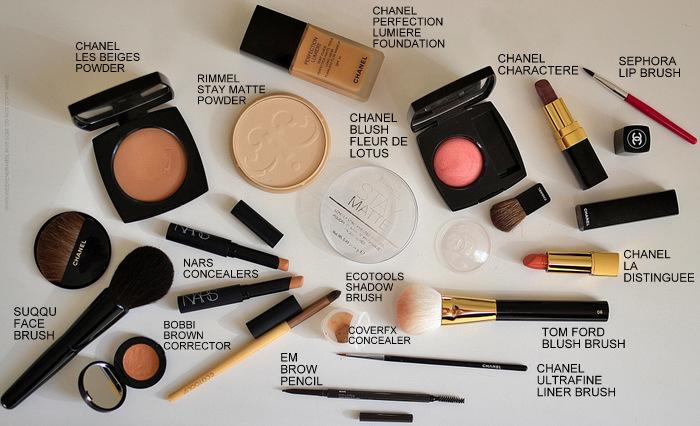 Face Makeup Products - Chanel Les Beiges Perfection Lumiere Rimmel Stay Matte Powder Fleur de Lotus Blush Character La Distinguee Lipstick - Suqqu Face  - Tom Ford Blush Brush