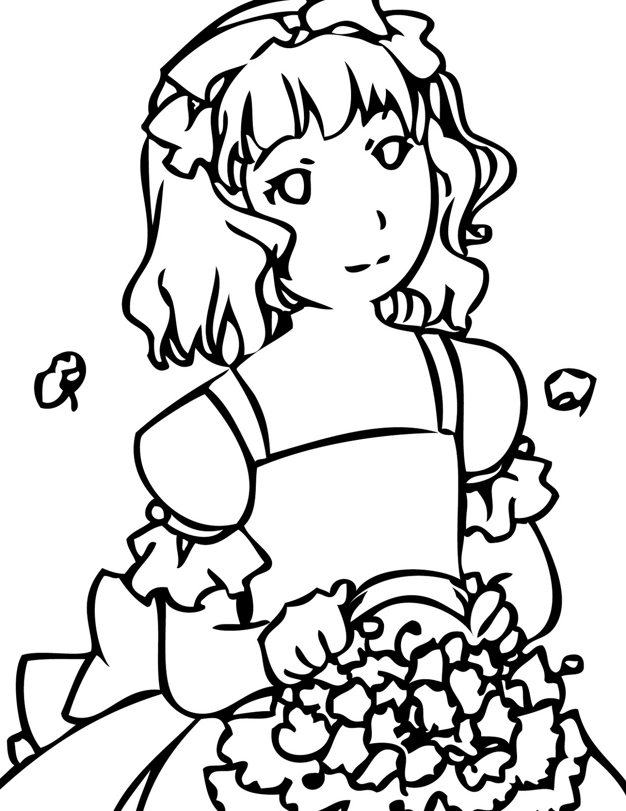Wedding Flowers Coloring Pages To Girls