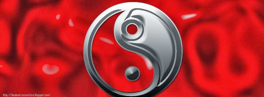 Belle photo de couverture facebook yin yang