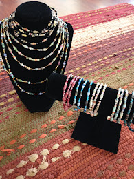 Hand Made  African Paper Bead Necklaces & Bracelets