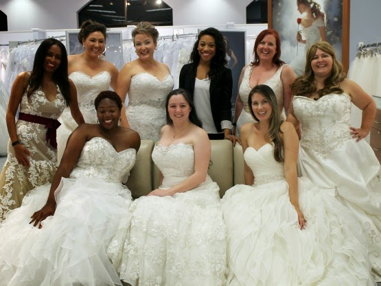 Real women modeling Alfred Angelo wedding dresses