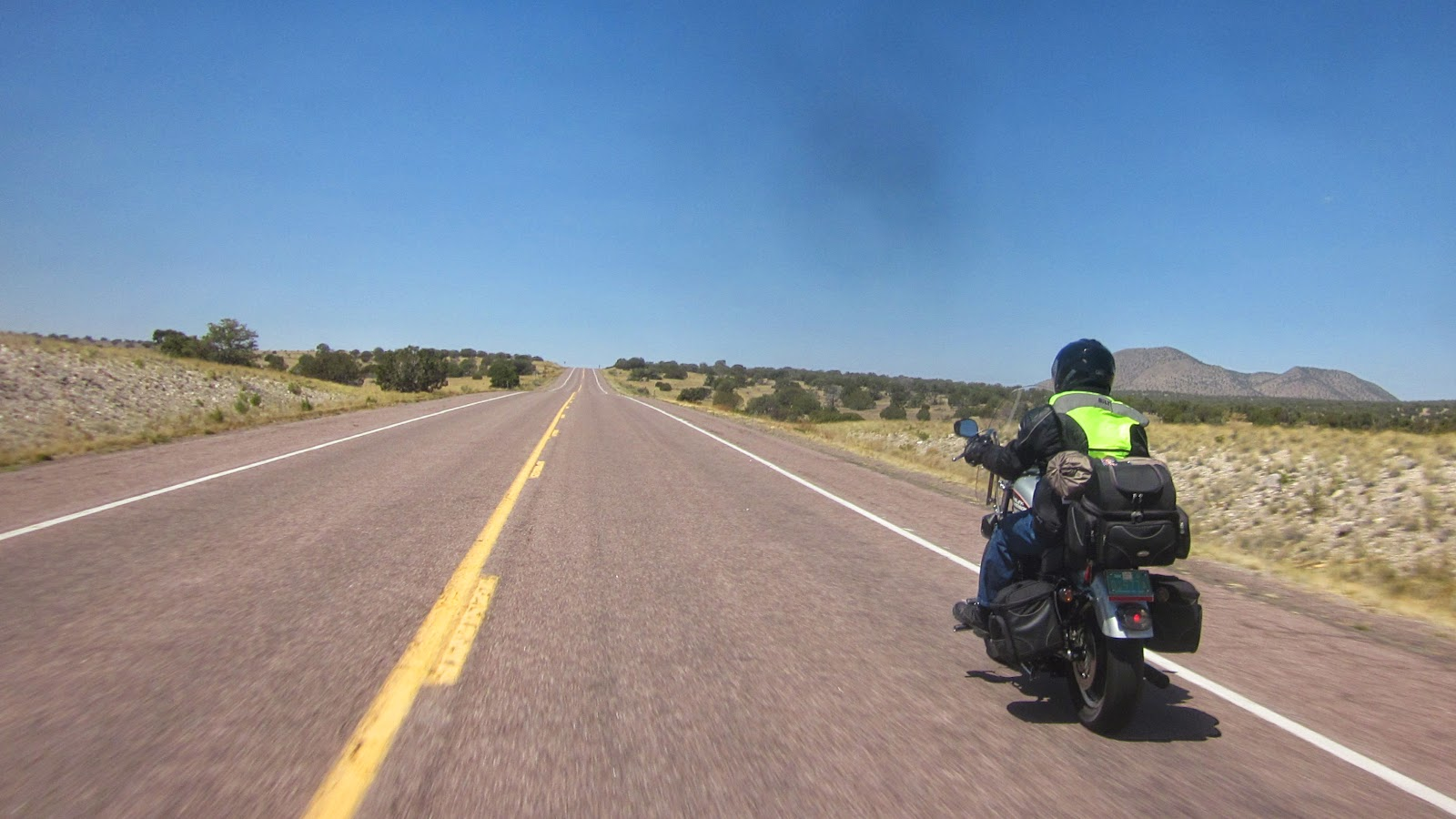 us-60 new mexico motorcycle rider