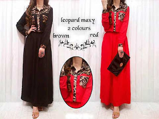 Dress Lebaran Animal Dress Motif Leopard