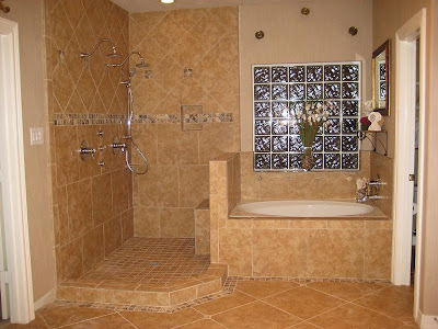 Kitchen and bathroom designs countertops backsplash flooring shower wall tuscan style - Tuscan bathroom designs and styles ...
