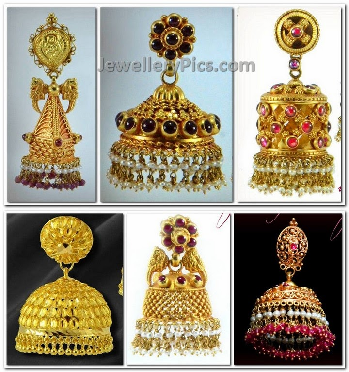 antique style gold jumkas